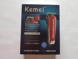 Máquina Cortar Cabelo Profissional Recarregável Kemei Km2609 Bivolt 110v/220v