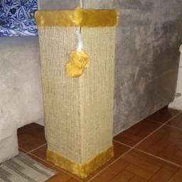 Protetor canto sofá com tela dupla, bordas caramelo