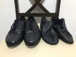 Kit dança (sapato de sapateado e botinha sapatilha de jazz) Nº 38
