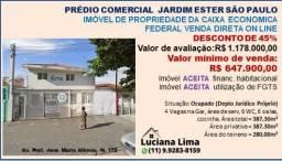 PRÉDIO COMERCIAL JARDIM ESTER SÃO PAULO- DESCONTÃO DE 45%