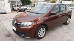 Renault Logan Expression 1.0 2014 Marrom Excelente Estado.