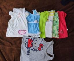 Lote roupas menina tam 1 e 2 anos