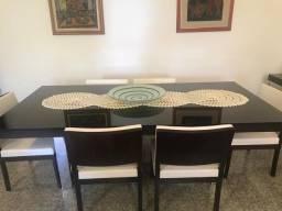 Mesa jantar luxo com 6 cadeiras