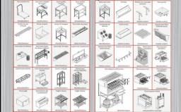Cozinhas seminovas - diversos equipamentos
