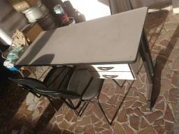 Super promoção mesa de escritório + 2 cadeiras