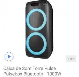 Caixa de som torre Pulsebox bluetooth 1000w