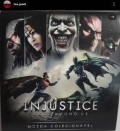Moeda metálica Batman X Superman