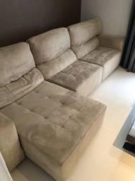 Sofá retrátil reclinável 3,20m