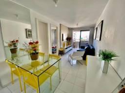 Apartamento Nascente com cozinha americana e varanda na Jatiuca