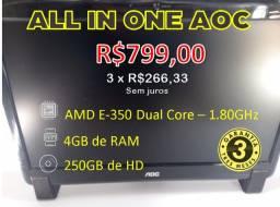 Título do anúncio: All In One AOC - 4GB + HD de 250GB Com Garantia e em 3 X no cartão!!
