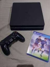 PS4 slim com 1 controle e 1 jogo ( selado )