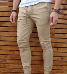 Calças jeans estilo jogger                                   P M G GG