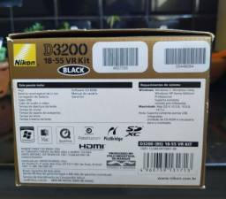Nikon D3200 Kit 18-55 VR  Impecável