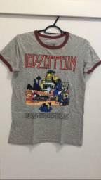 Camisa Feminina Banda Led Zeppelin P - Vendas da Carol
