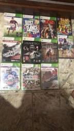 Xbox 360 kinect e vários jogos