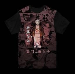 Camiseta Anime Demon Slayer - Nezuko - Estampa 3D