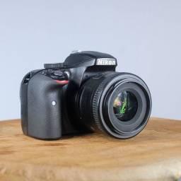 """""""OPORTUNIDADE"""" Nikon D3300 +35mm f1.8"""