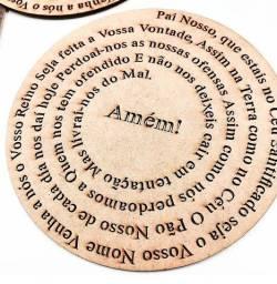 Oração Pai Nosso - Mandala em MDF crú 3mm