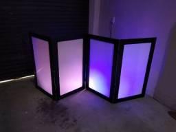 Cabine biombo para djs com refletores para festas somente venda
