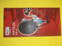 Protetor para microfone de estúdio Pop filter