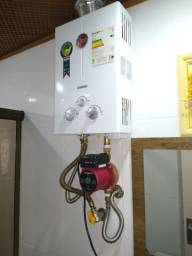 Bomba pressurizador acoplada ao aquecedor