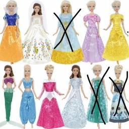 Vestidos De Princesas Disney Para Barbie -Valor unitário