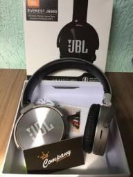 Fones de ouvido JBL bluetooth, cartão de memória e rádio FM