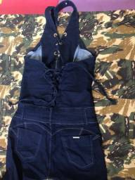 Macacão jeans feminino (NOVO)