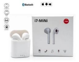 Fone De Ouvido Bluetooth iphone e Smartphone I7-mini Tws S/ Fio Academia
