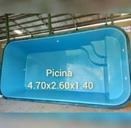Piscinas de fibra  4.70 x2.70 x1.40 a vista 4400.00