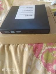 Gravador de DVD externo slim