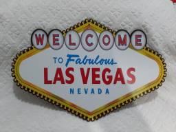 Placa Decorativa Las Vegas