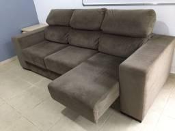 Sofá de 3 lugares retrátil e reclinável