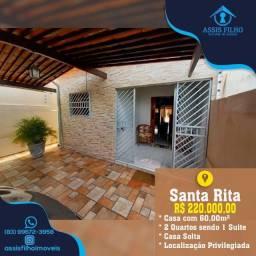 Excelente Casa de 2 quartos em Santa Rita, Aceita-se Financiamento