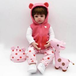 Boneca Bebe Reborn brinquedo menina corpo pano bebê real