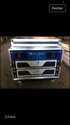 Vendo dois amplificadores etelj slin4000