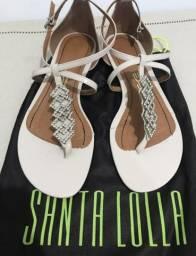 Sandalia Santa Lolla rasteirinha de strass