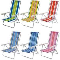 Cadeira de Praia Reclinável 4 Posições Aço - MOR