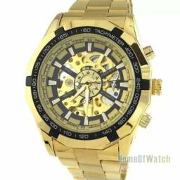 Winner relógio mecânico automático