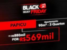 (JG) Apartamento Papicu, 90m², 3Q, De 880.000 P/ 569.000