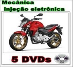 Curso mecânica e injeção eletrônica de moto em DVDs