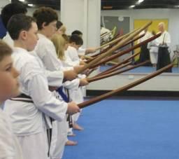 Jo e Boken para prática de artes marciais
