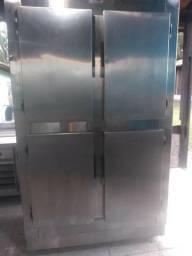 Camara fria 4 portas em inox dupla (freezer e geladeira)