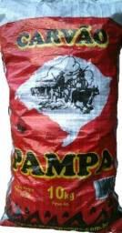 Carvão Pampa 10kg para restaurantes