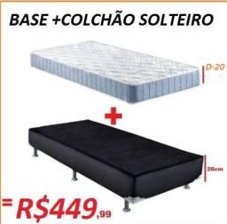 Otimo Preço Base+Colchão Solteiro Espuma D-20 Novo Apenas 449,00