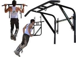 Barra Fixa E Paralela 2X1 Novidade Multifuncional - Fitness Prado