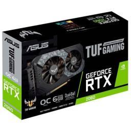 Placa de Vídeo RTX 2060 Asus TUF Gaming 6GB Gddr6 nova e Lacrada Ac. Cartão 10X sem Juros!