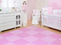 Kit 12 Placas Tatame Tapete Eva Infantil Fitness Bebe P/ Menina - NOVO