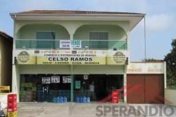Sobrado Comercial (Sala + Apartamento + Edícula), frente p/ Av. Celso Ramos