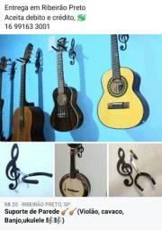 Suporte de Parede P/ Violão, guitarra, Cavaco,Banjo,etc.